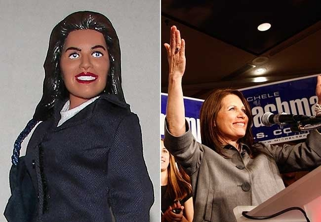 Bachmann and her action figure