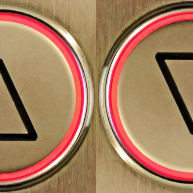 Elevator up and down button