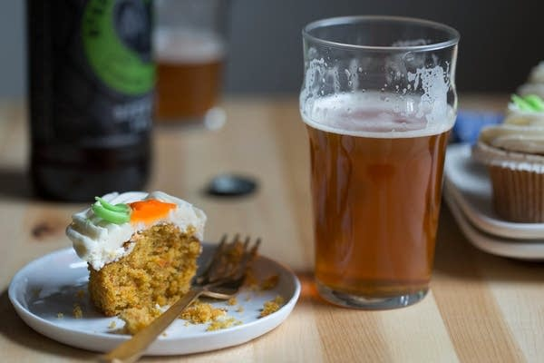 Beer and carrot cake