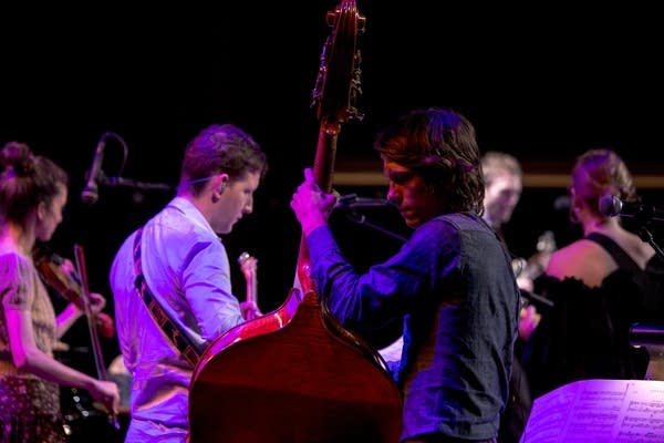 Paul Kowert played bass in our band and David Rawlings' band this weekend