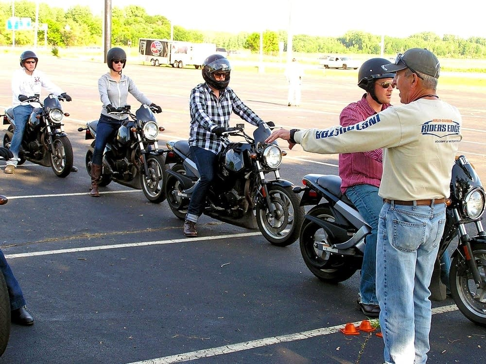 Motorcycle safety instructor Eddie Carroll