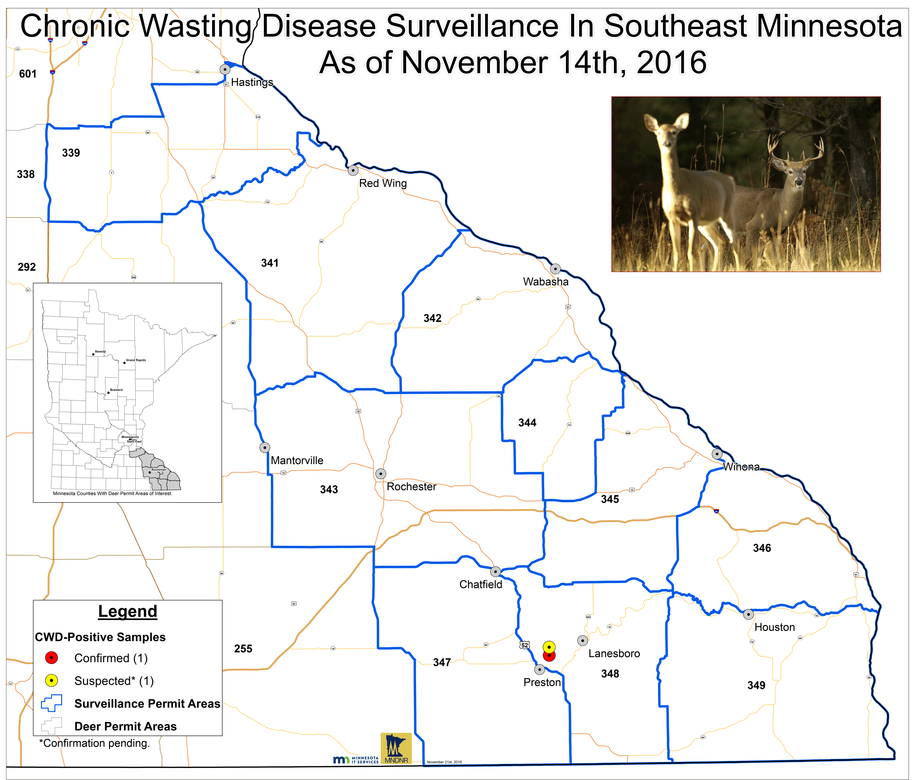 Chronic wasting disease surveillance