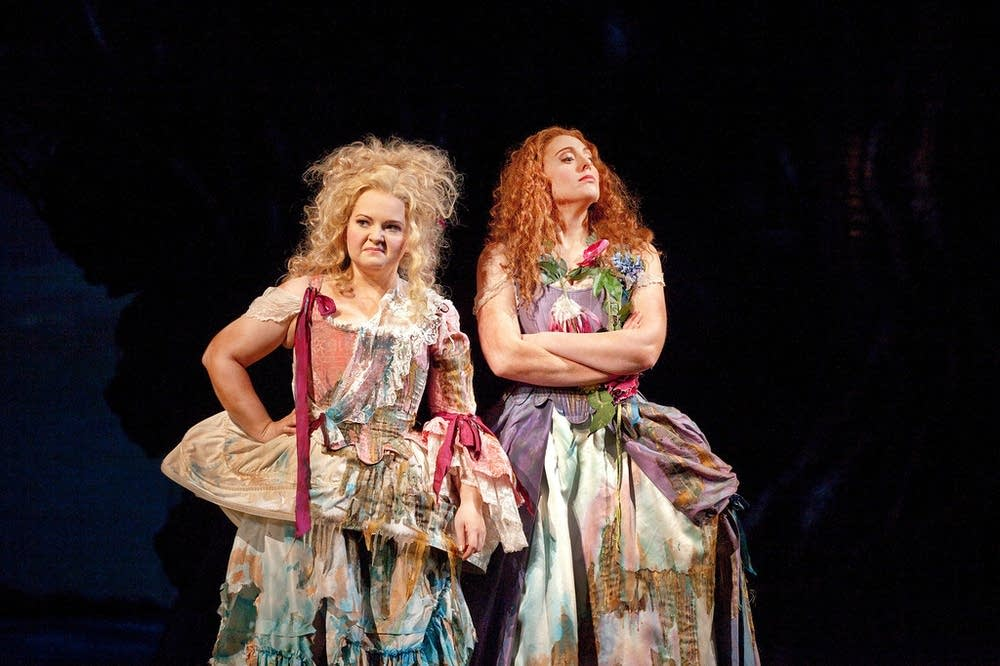 DeShong as Hermia and Claire as Helena