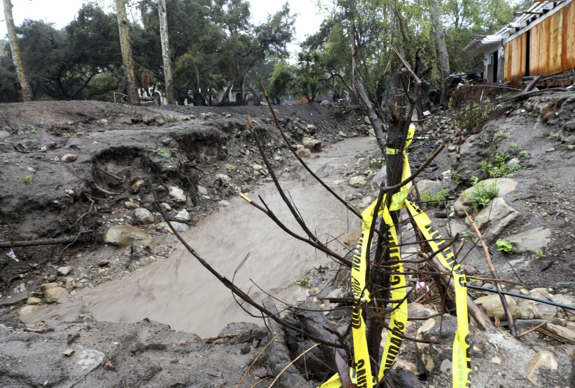 The scene last month in Montecito, California, after a powerful storm hit.