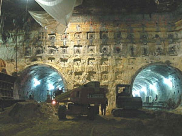 Tunnels under construction