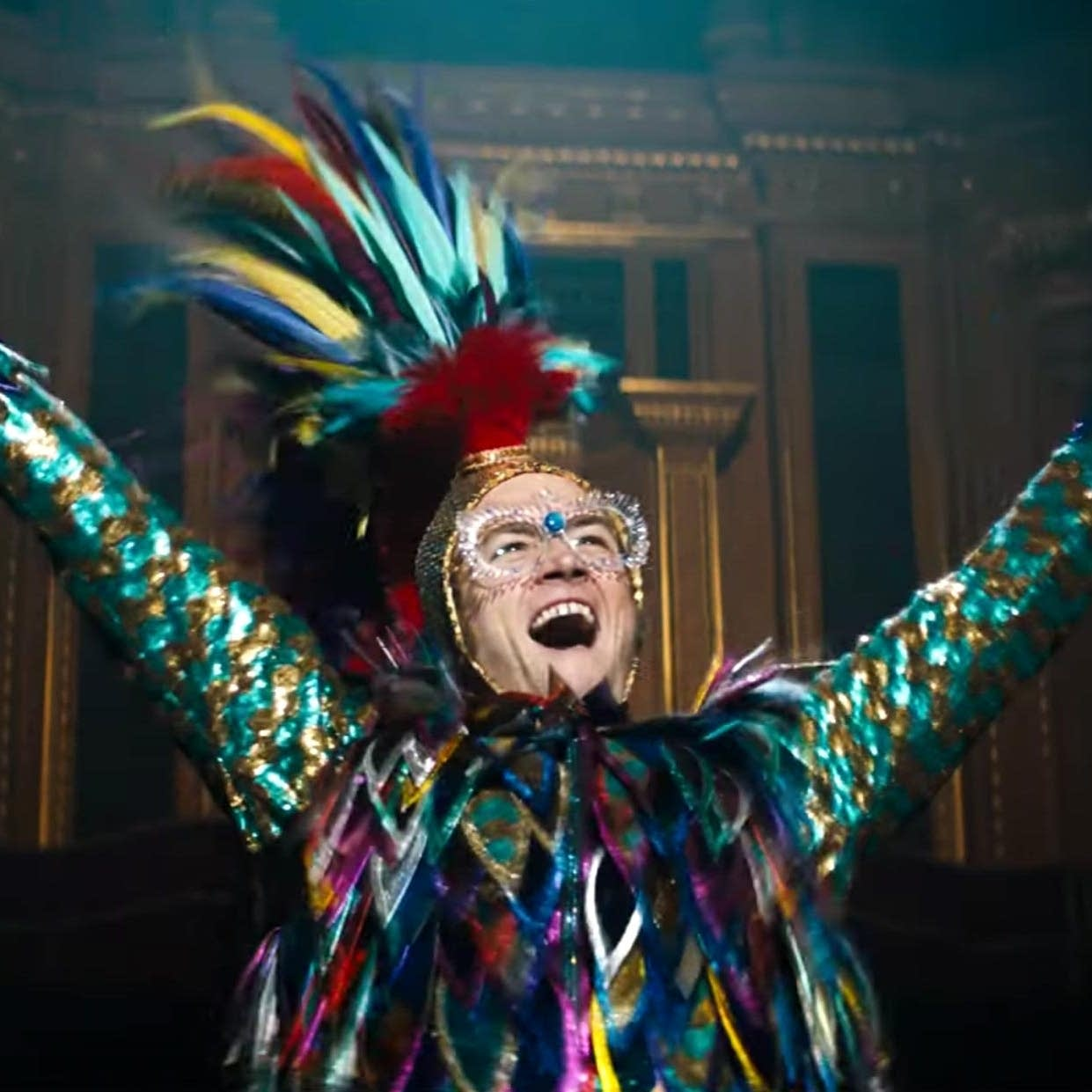 Taron Egerton as Elton John in 'Rocketman.'