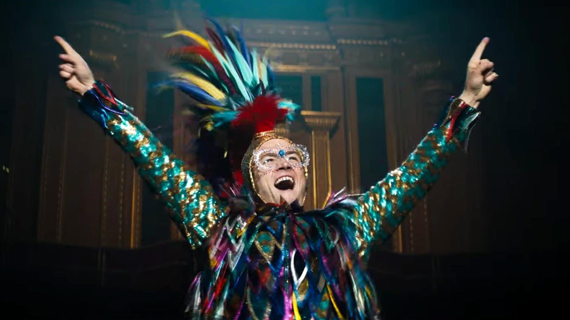 Taron Egerton as Elton John in 'Rocketman.'