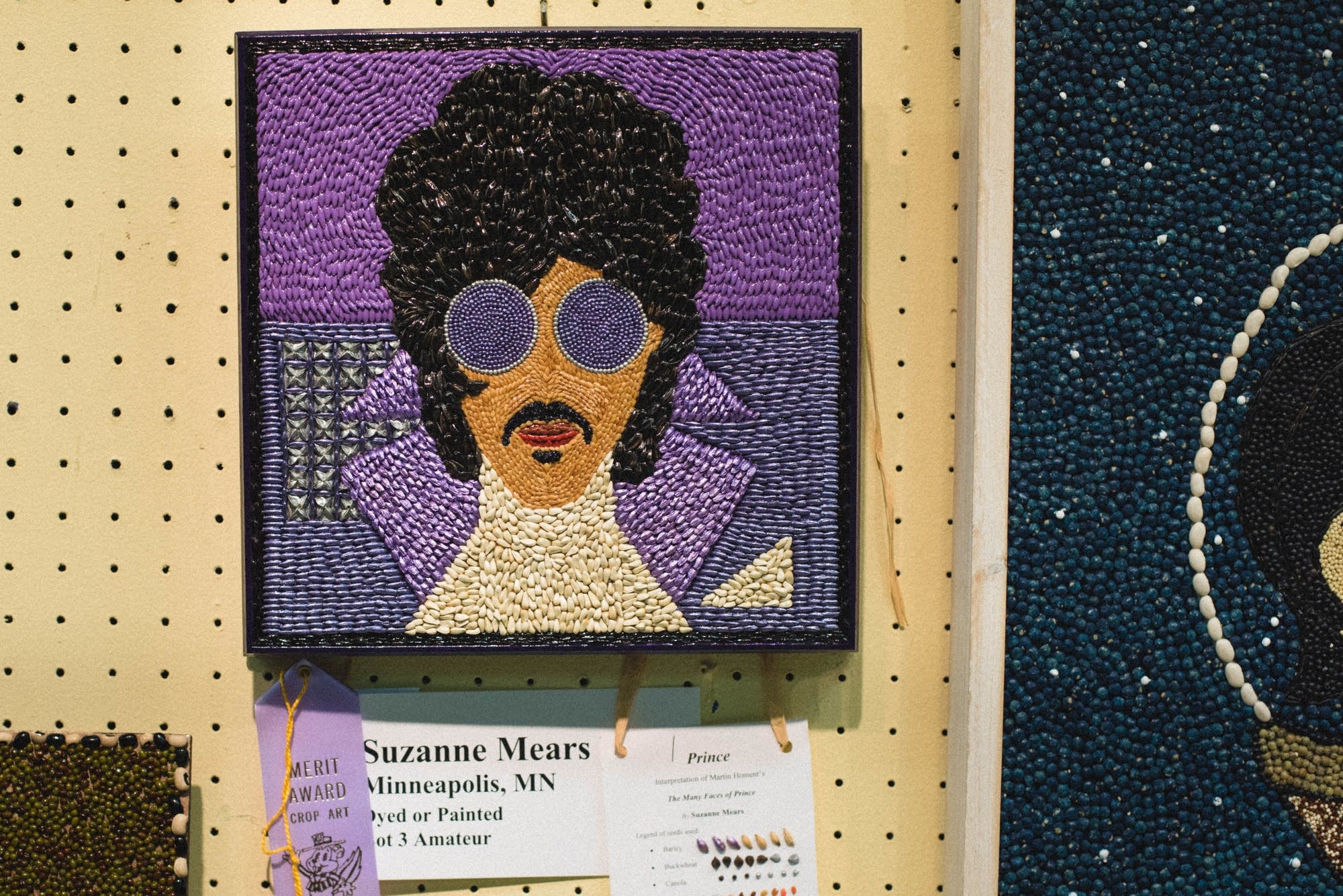 A selection of 2017 Minnesota State Fair seed art