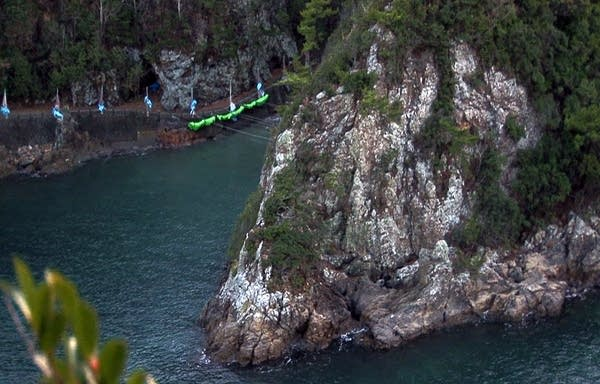 The Cove in Taiji, Japan tucked away in a National