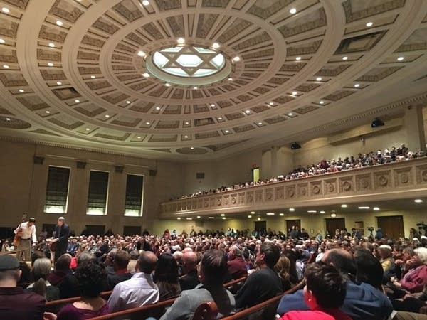 Rally at Temple Israel against anti-Semitism
