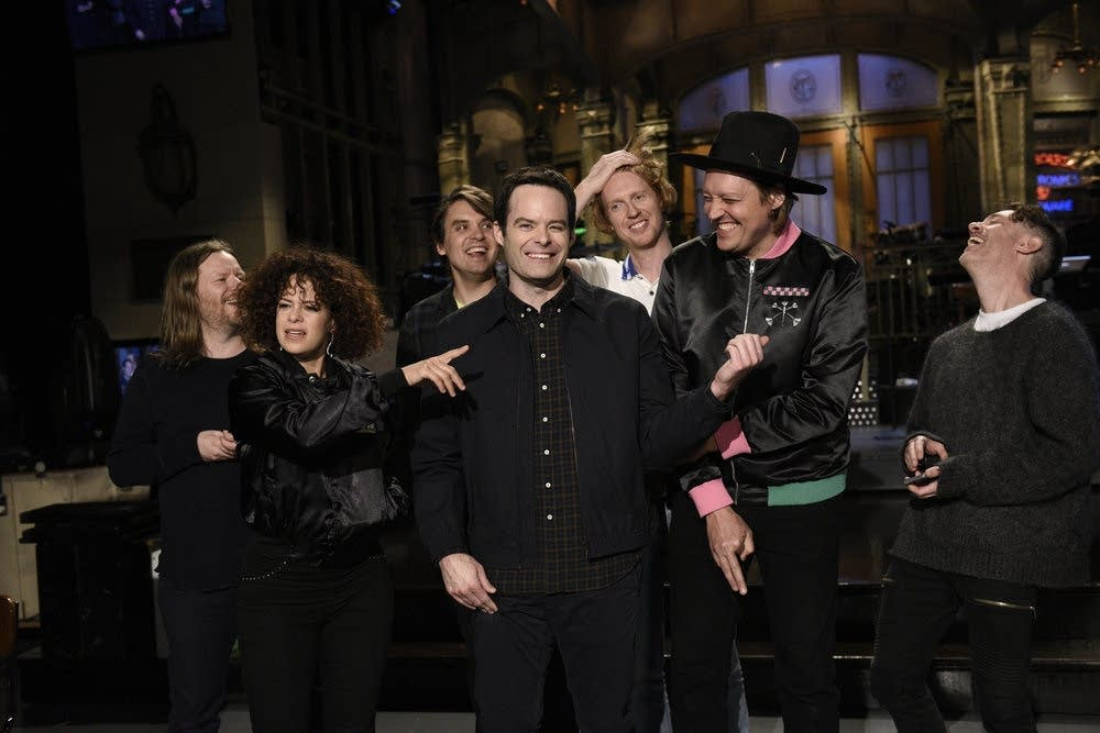 Bill Hader with Arcade Fire on 'Saturday Night Live'