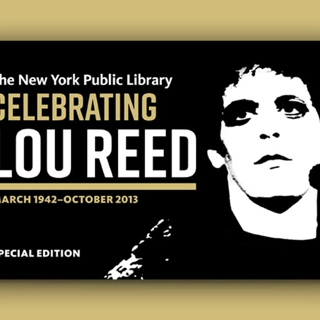 A special Lou Reed library card.