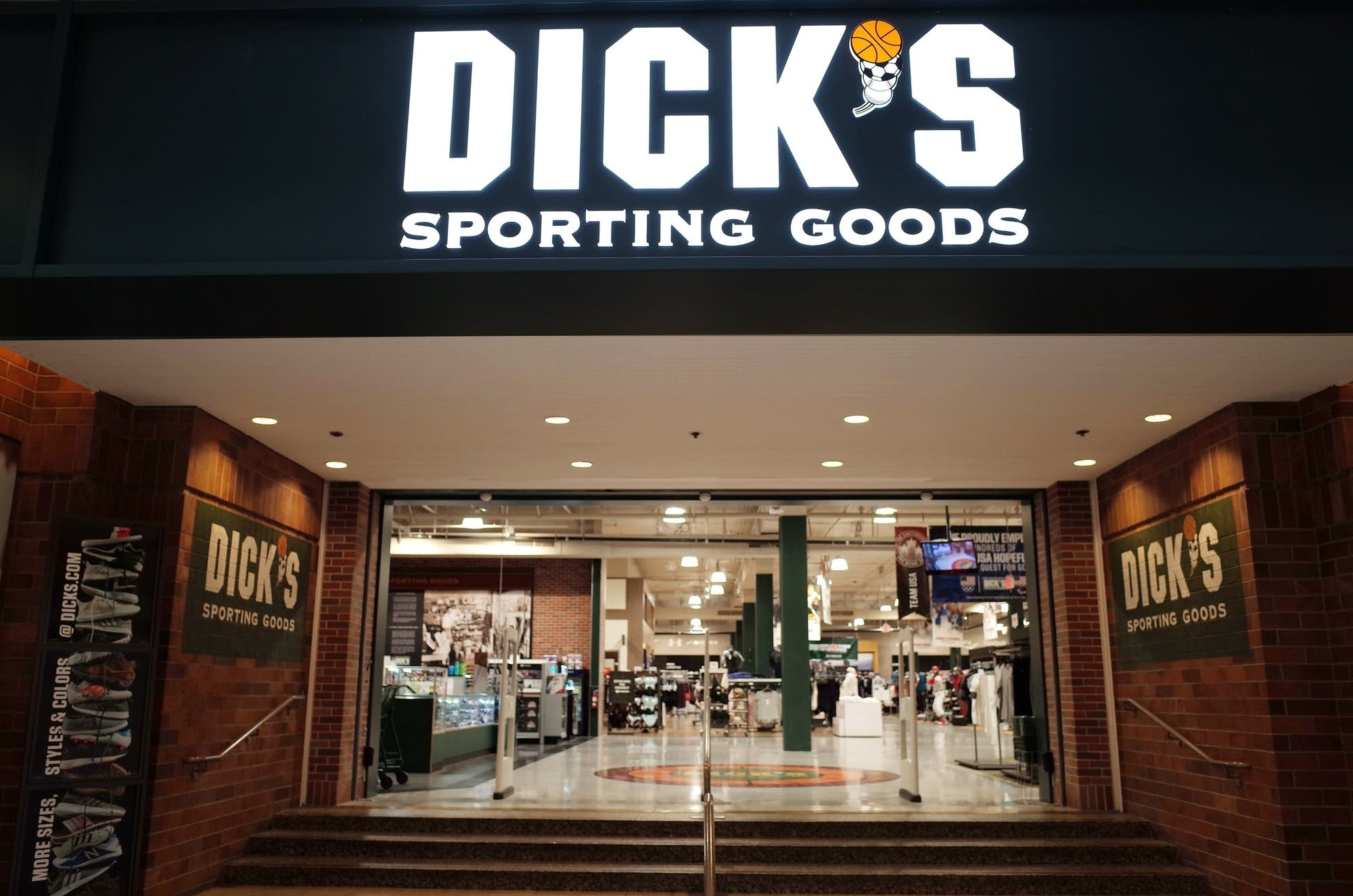 The entrance to a Dick's Sporting Goods store.