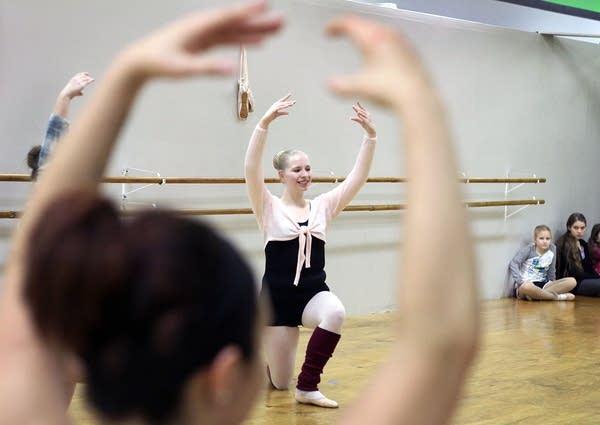 Haley Lenway, 16, rehearses her dance.