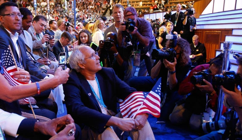Actor Chevy Chase at the DNC in Denver