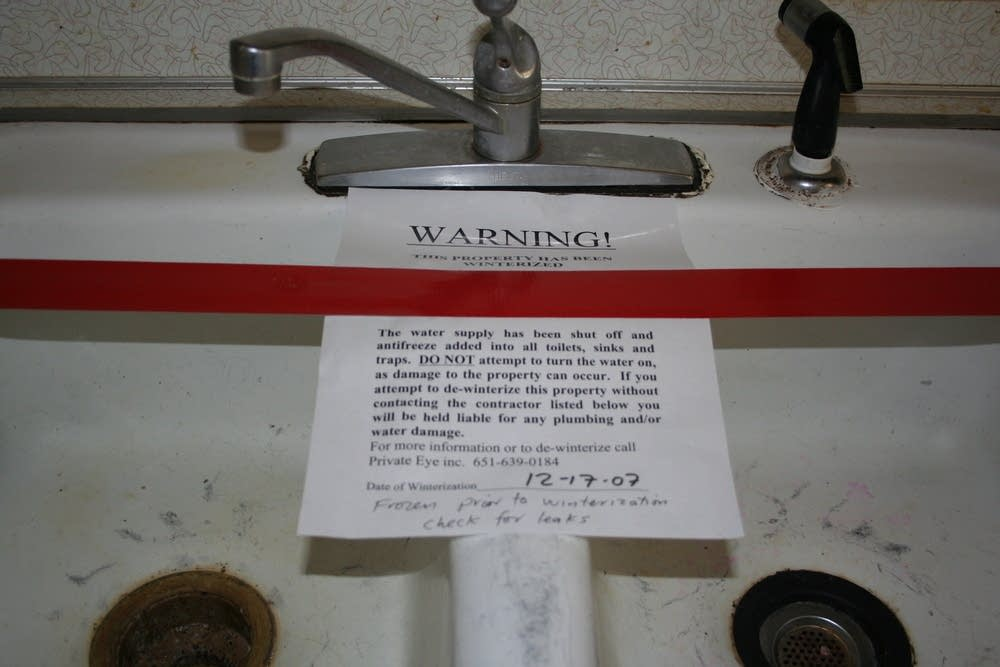 Don't turn on the water