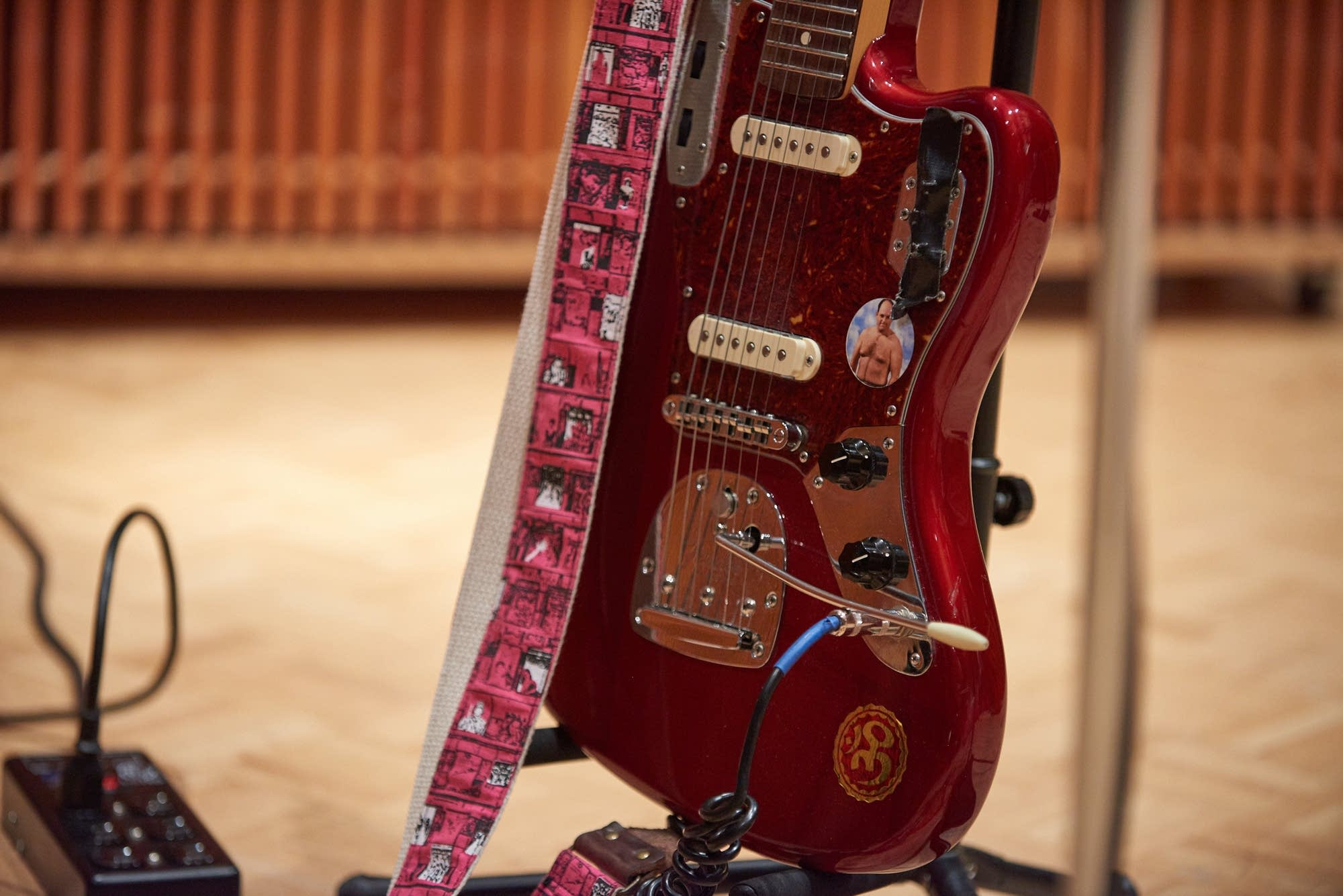 Ron Gallo's Fender Jaguar in The Current studio