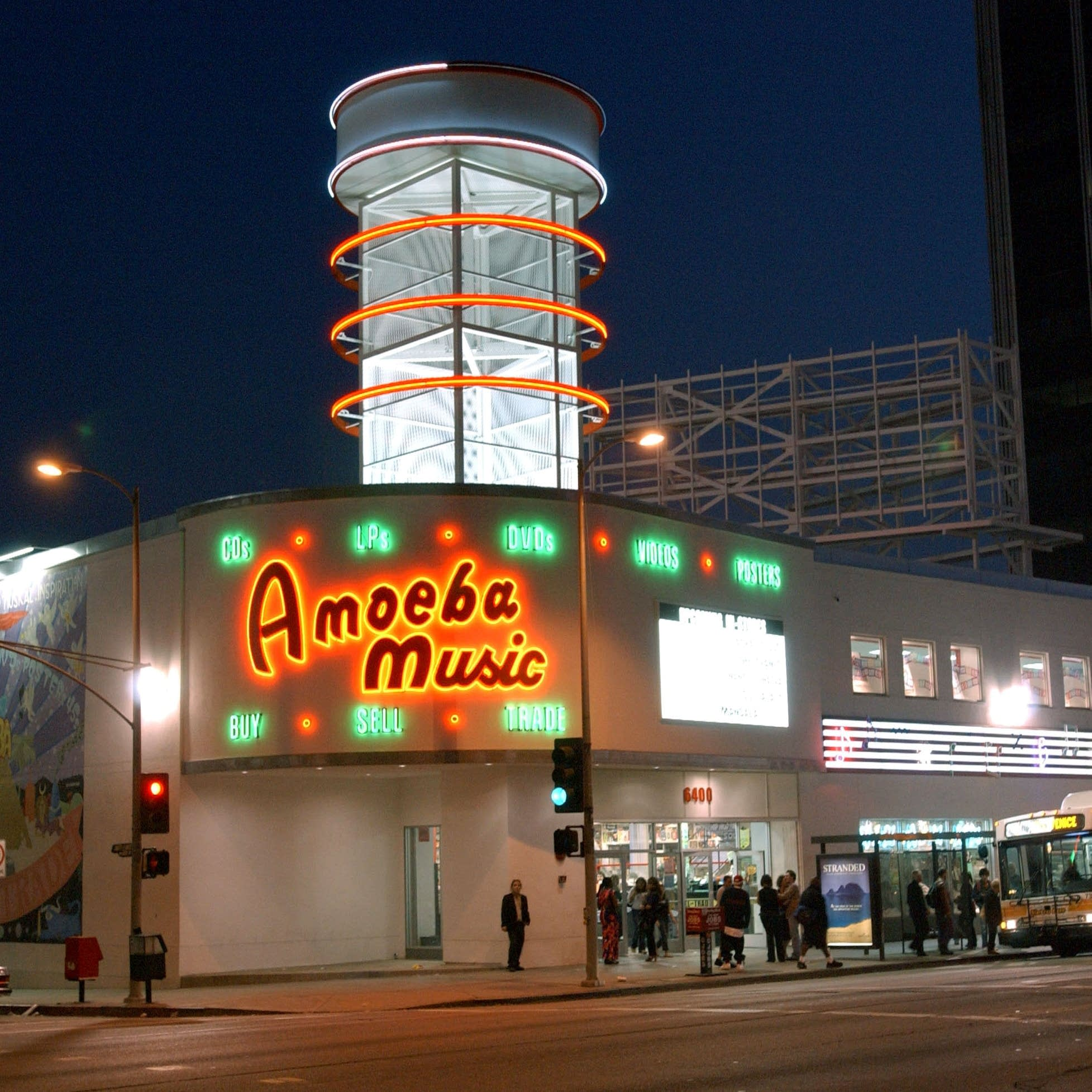 Amoeba Music in Los Angeles, photographed in 2002.