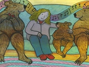 Goldilocks and the Three Bears enjoyed their day together.