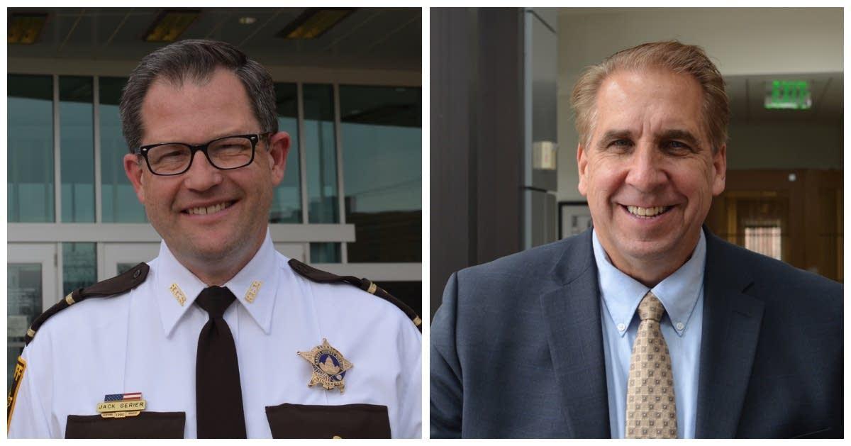 Current Sheriff Jack Serier, left, and Vadnais Heights Mayor Bob Fletcher