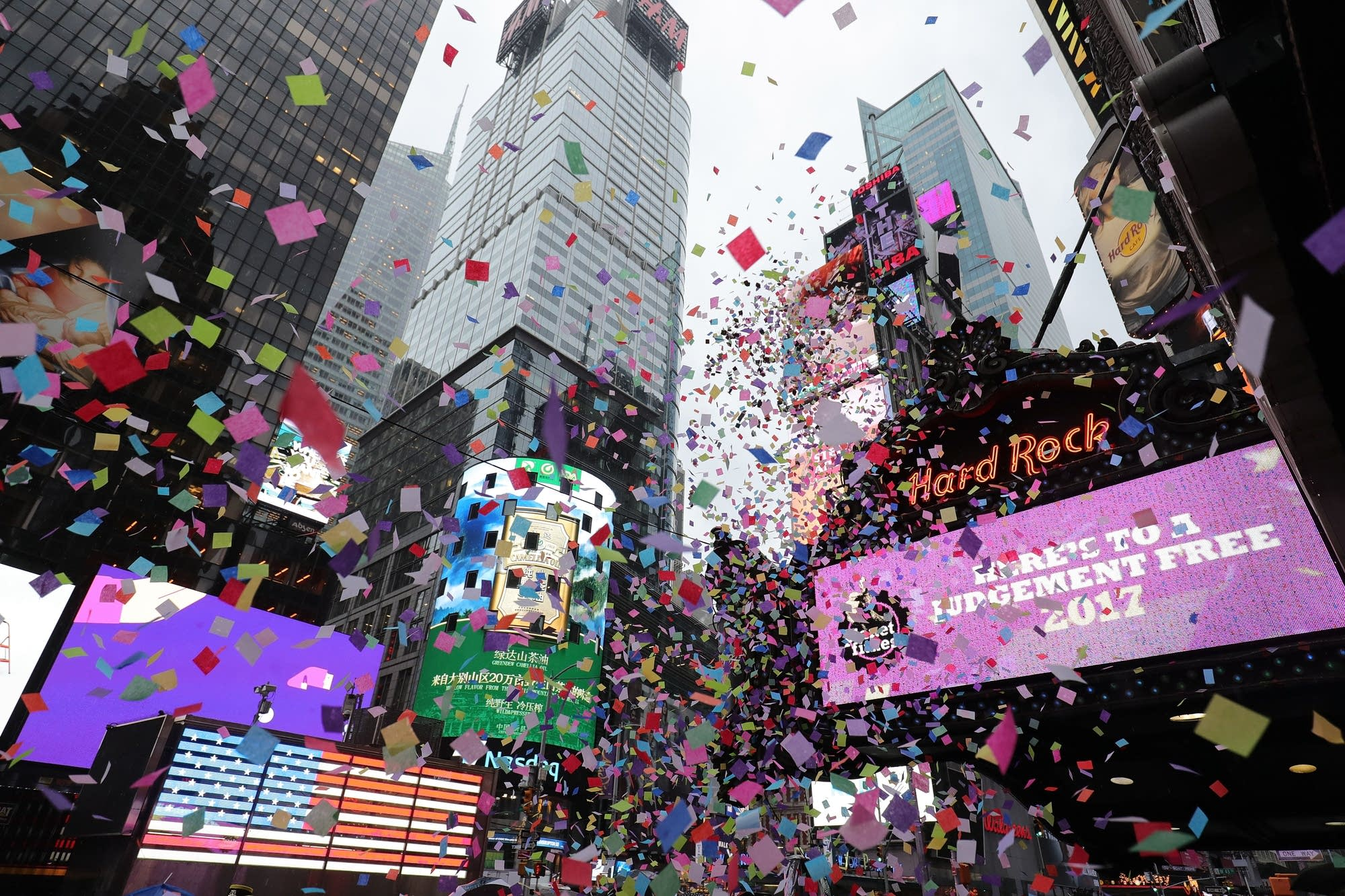 New Year's Eve confetti test