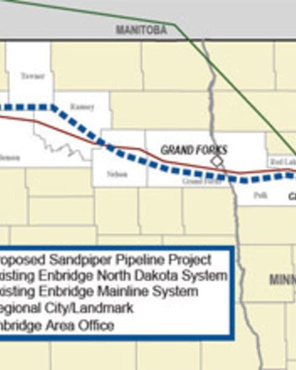 Enbridge puts on hold proposed Sandpiper oil pipeline across