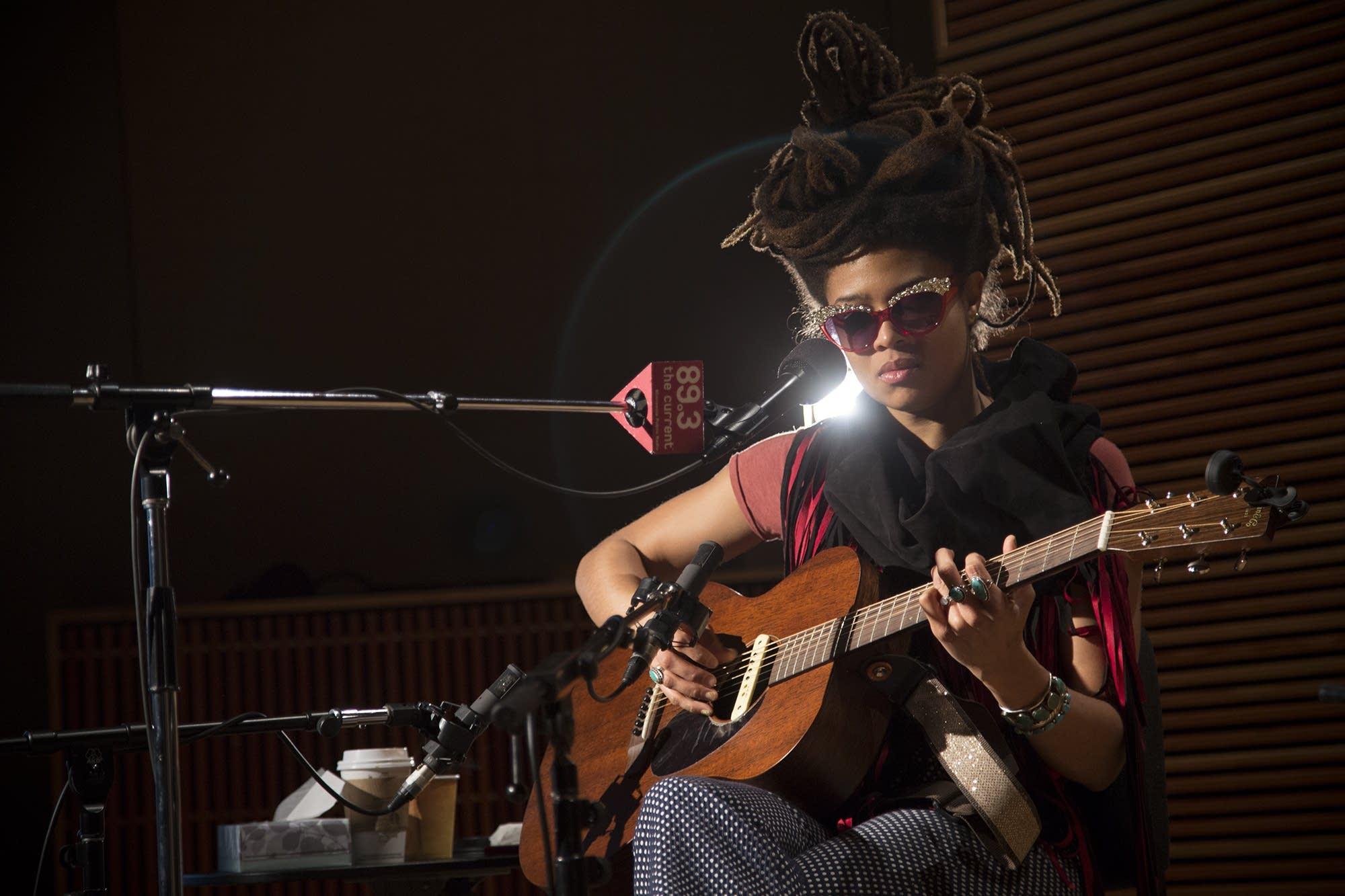 Valerie June performs in The Current studio