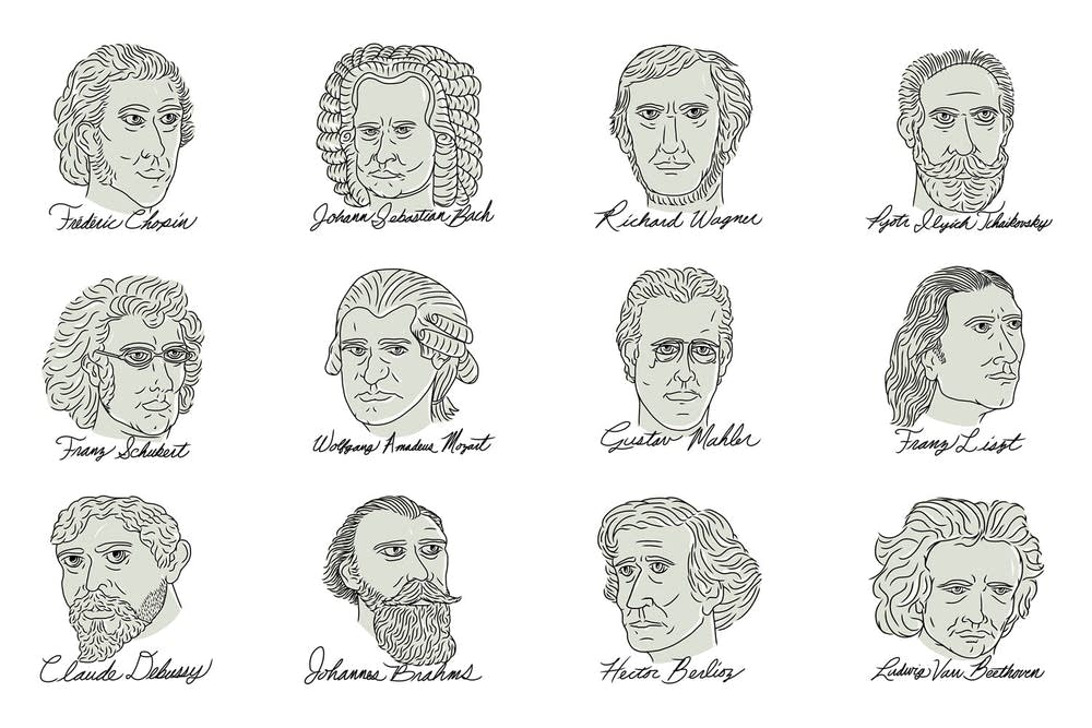 Collage of composers