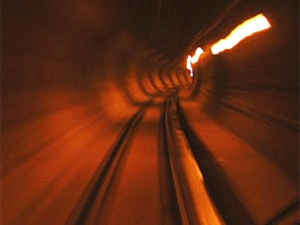 light rail tunnel