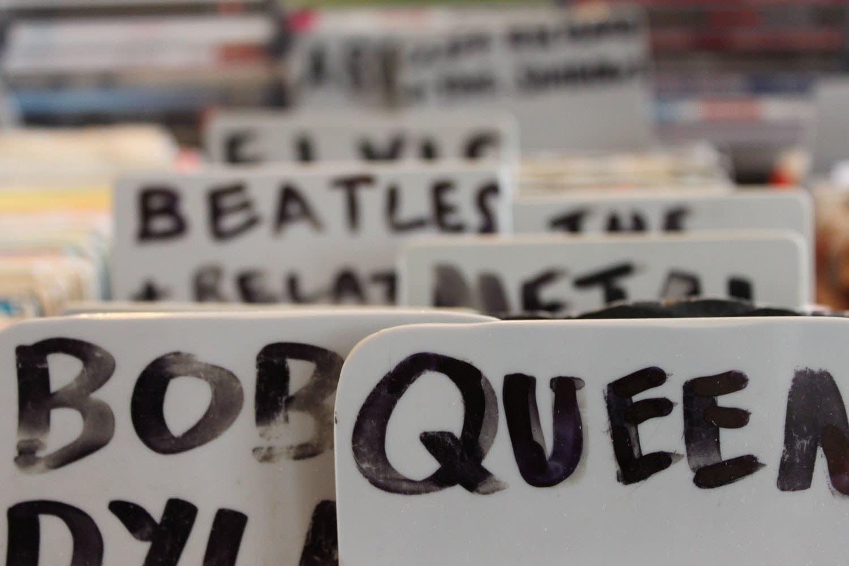 Record shop bin tabs