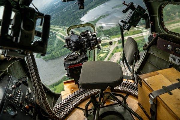 A Norden bombsight looks down on Minnesota.