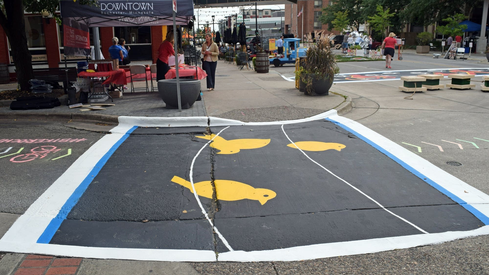 'Creative Crosswalks' are four painted crosswalks.