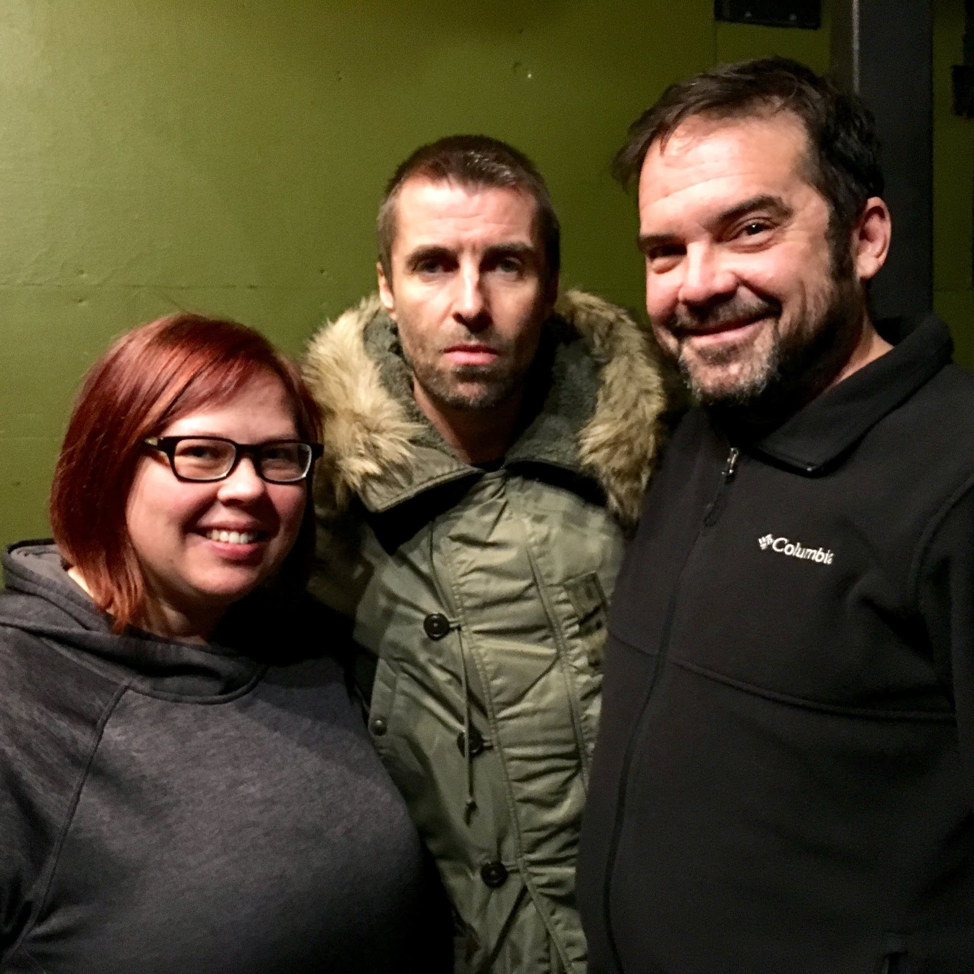 Jill Riley, Liam Gallagher, Brian Oake