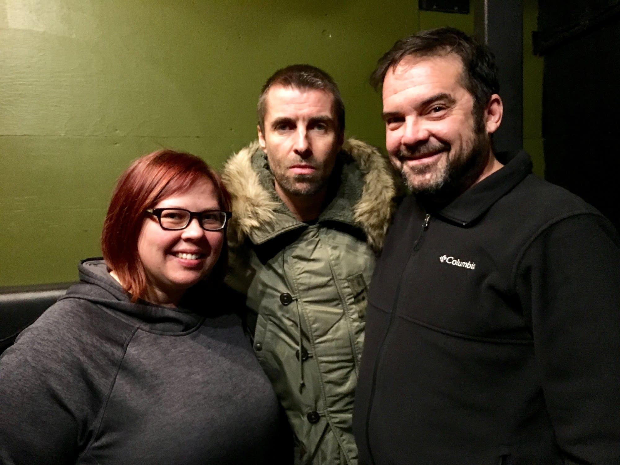 Jill Riley, Liam Gallagher, Brian Oake