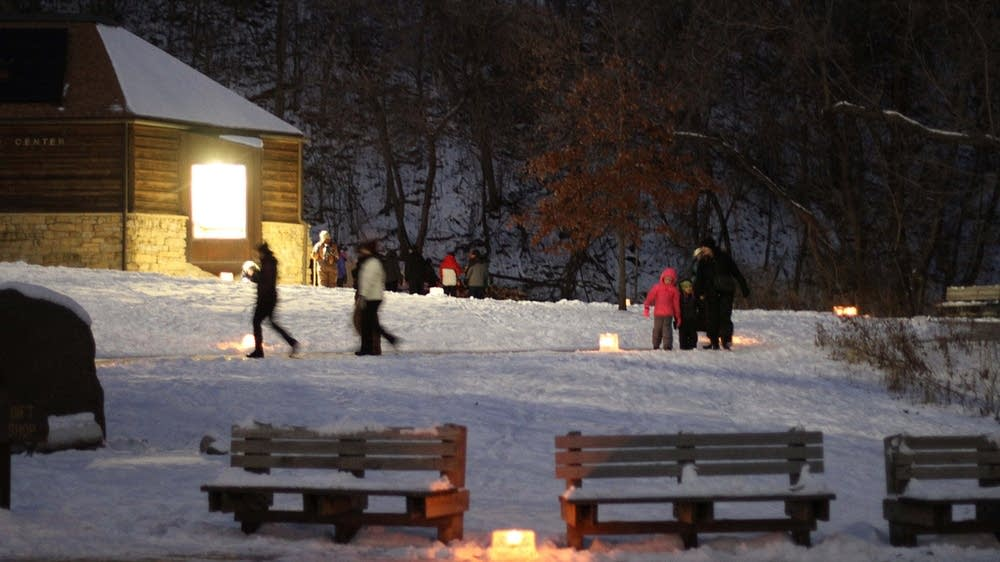 New Year's Eve candlelight hike at Fort Snelling