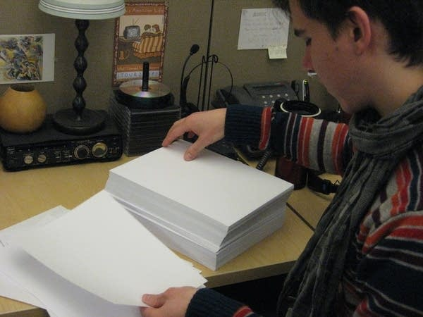 MPR's Sanden Totten counts paper