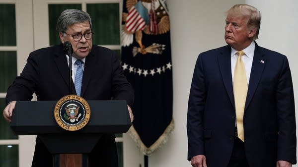 Attorney General William Barr and President Trump
