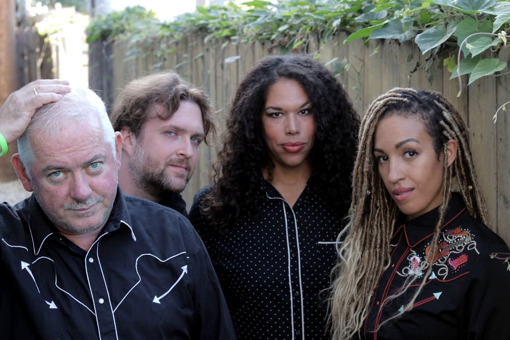Jon Langford with his band, Four Lost Souls.