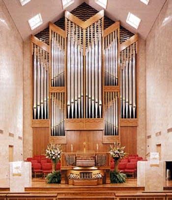 1998 Schantz organ at Moody Memorial First UMC, Galveston, Texas