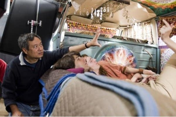 Ang Lee on set