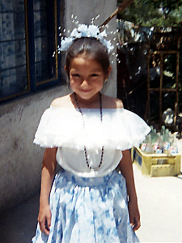 Maria as a young girl