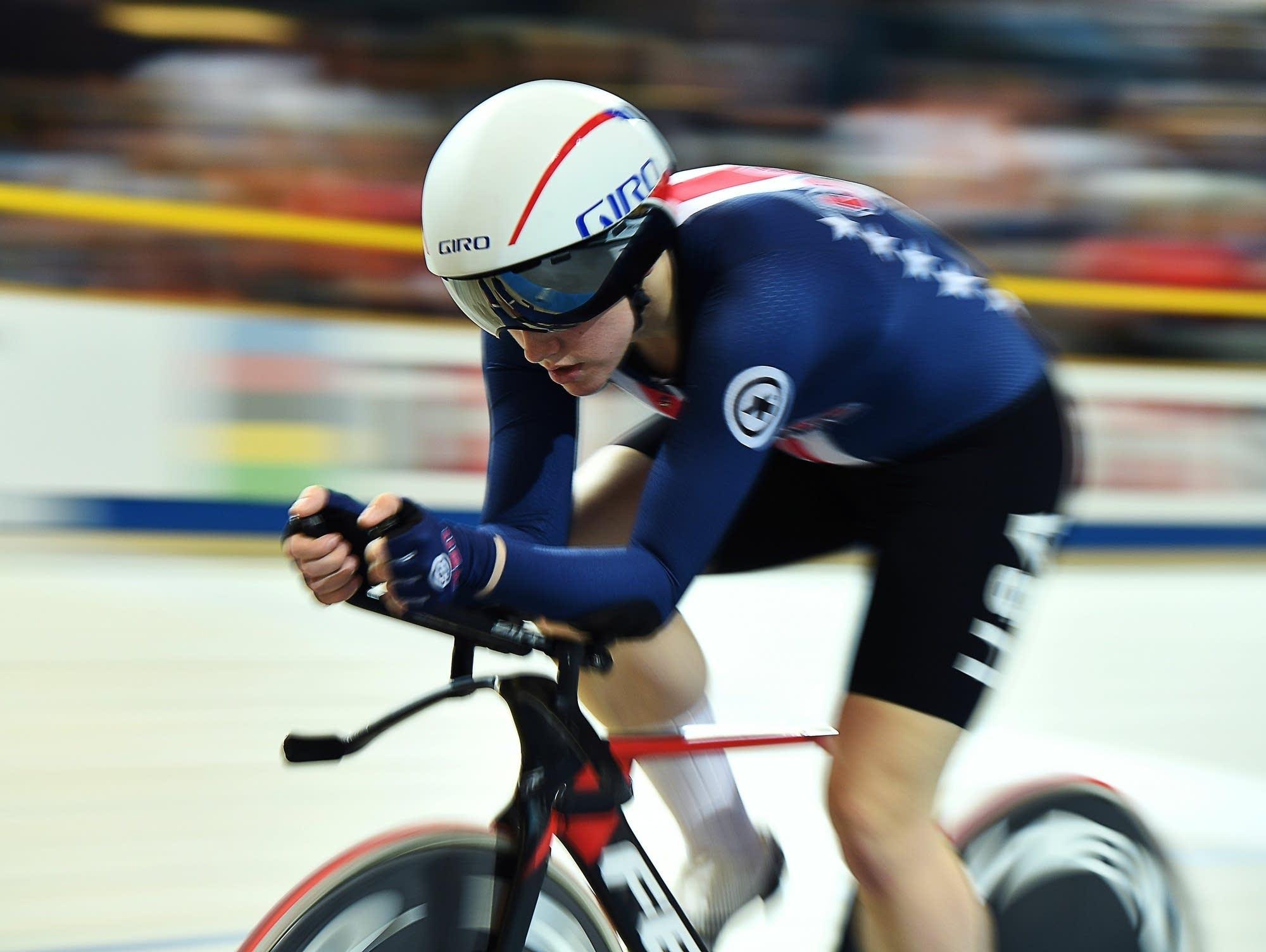 American cyclist Kelly Catlin