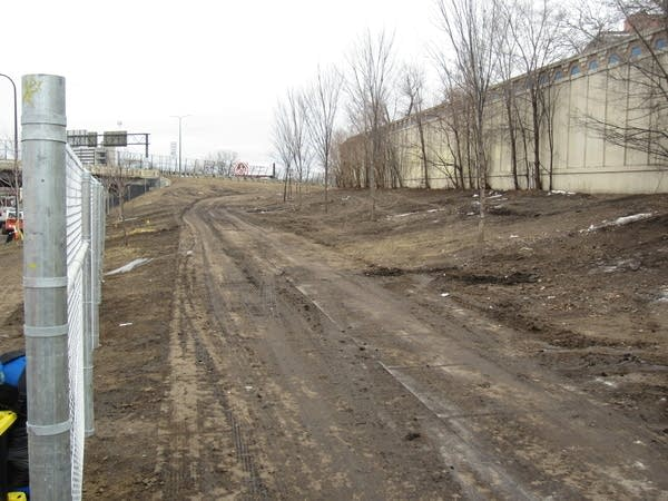 A strip of land near Franklin and Hiawatha has been cleared of tents