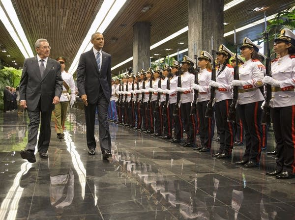 President Obama with Cuban President Raul Castro