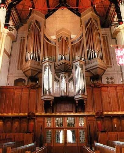 1995 Marcussen organ at Tonbridge School, Kent, England, UK
