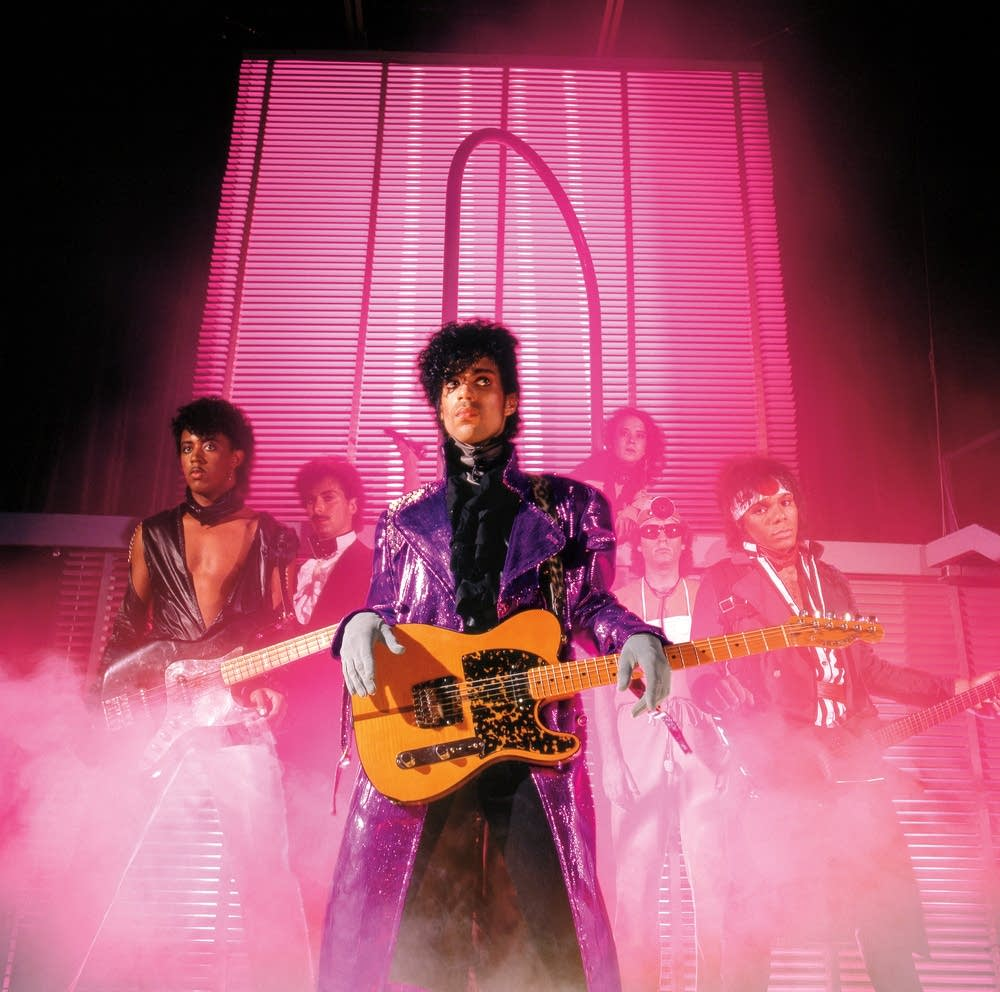 Prince and his band in 1982