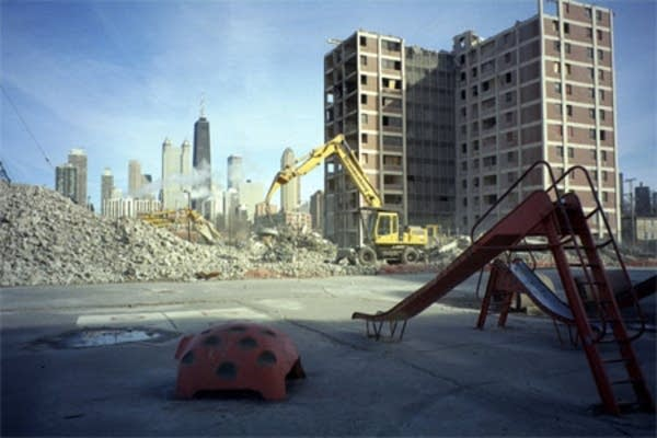 Public housing projects are crashing down.