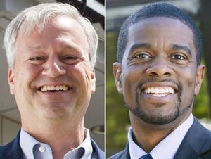 Mayoral candidates Dai Thao, Pat Harris, Melvin Carter and Tom Goldstein