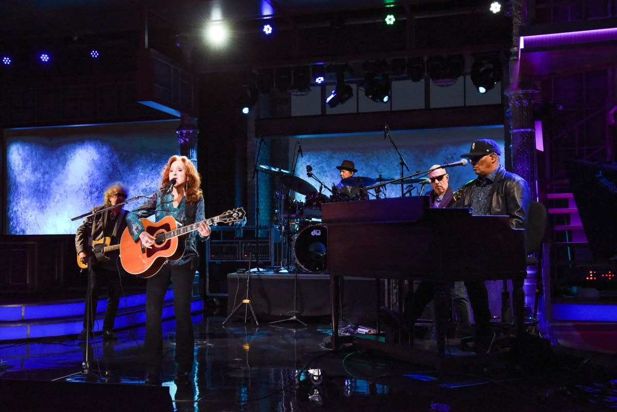 Bonnie Raitt performs on 'The Late Show with Stephen Colbert'