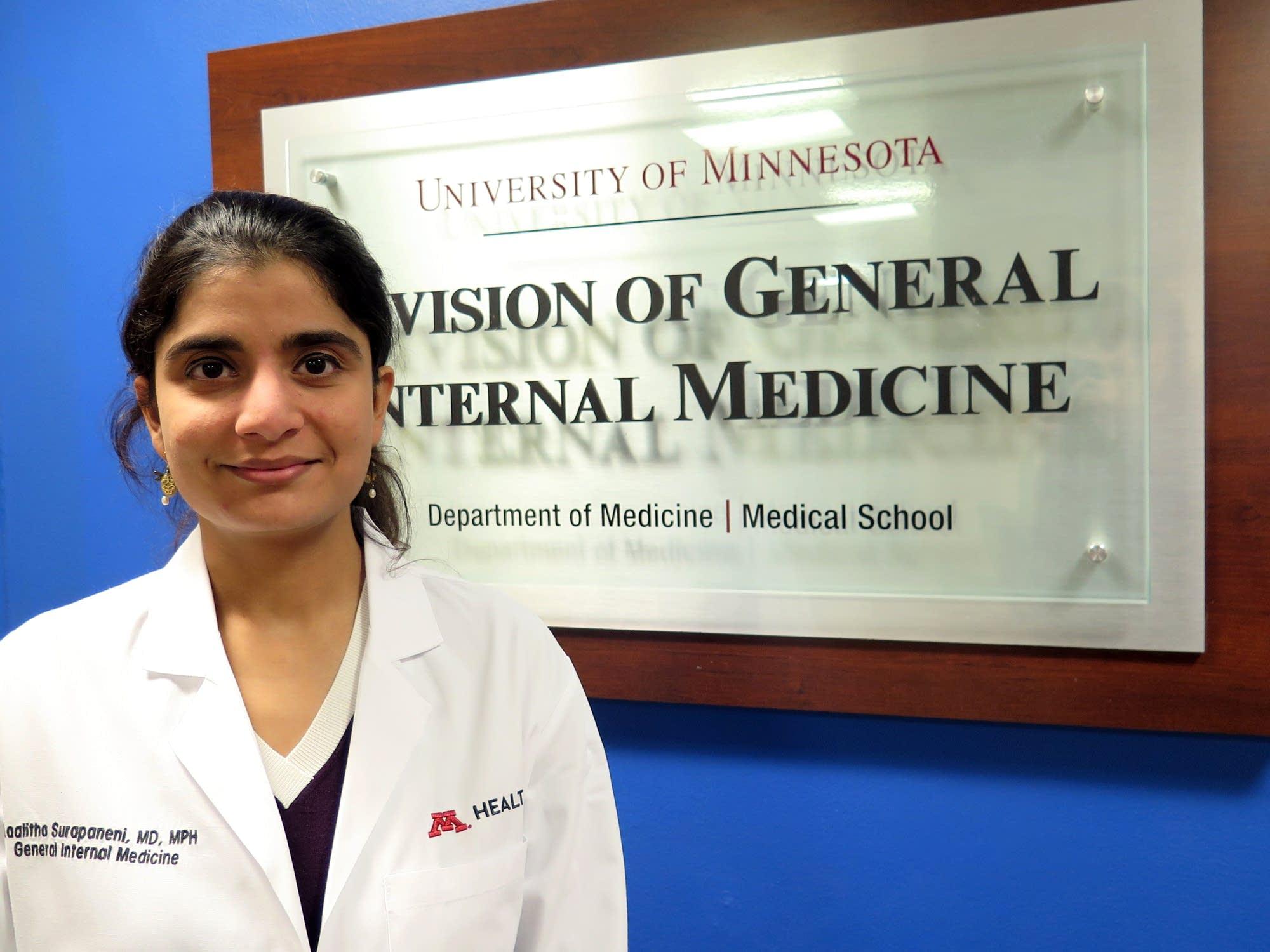 Dr. Laalitha Surapaneni, internal medicine hospitalist